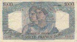 1000 Francs MINERVE ET HERCULE FRANCE  1946 F.41.10 TTB