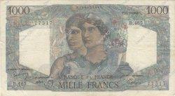 1000 Francs MINERVE ET HERCULE FRANCE  1948 F.41.22 TB à TTB