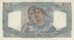 1000 Francs MINERVE ET HERCULE FRANCE  1949 F.41.26 TTB
