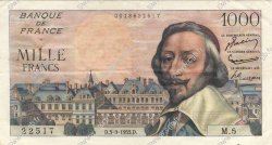 1000 Francs RICHELIEU FRANCE  1953 F.42.02 SUP