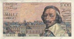 1000 Francs RICHELIEU FRANCE  1954 F.42.06 TTB+