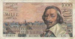 1000 Francs RICHELIEU FRANCE  1954 F.42.06 pr.TTB