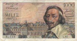 1000 Francs RICHELIEU FRANCE  1954 F.42.08 pr.TTB