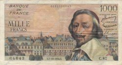 1000 Francs RICHELIEU FRANCE  1954 F.42.08 TTB