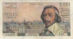 1000 Francs RICHELIEU FRANCE  1954 F.42.09 TB