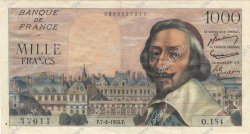 1000 Francs RICHELIEU FRANCE  1955 F.42.12 TTB+