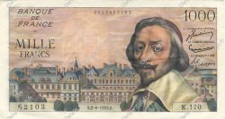 1000 Francs RICHELIEU FRANCE  1955 F.42.14 SUP