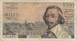 1000 Francs RICHELIEU FRANCE  1955 F.42.15 B+
