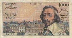 1000 Francs RICHELIEU FRANCE  1956 F.42.20 TB