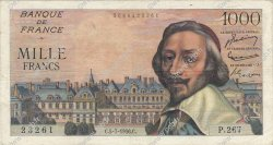 1000 Francs RICHELIEU FRANCE  1956 F.42.21 TB+