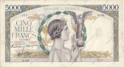 5000 Francs VICTOIRE Impression à plat FRANCE  1939 F.46.05 TTB