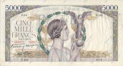 5000 Francs VICTOIRE Impression à plat FRANCE  1939 F.46.06 pr.TTB