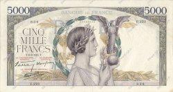 5000 Francs VICTOIRE Impression à plat FRANCE  1939 F.46.07 TTB