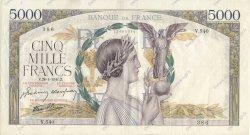 5000 Francs VICTOIRE Impression à plat FRANCE  1941 F.46.20 TTB