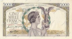 5000 Francs VICTOIRE Impression à plat FRANCE  1942 F.46.34 pr.SUP