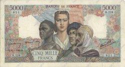 5000 Francs EMPIRE FRANÇAIS FRANCE  1945 F.47.10 TB