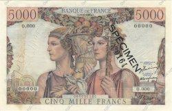 5000 Francs TERRE ET MER FRANCE  1949 F.48.00 SUP