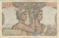 5000 Francs TERRE ET MER FRANCE  1952 F.48.06 B à TB