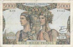 5000 Francs TERRE ET MER FRANCE  1953 F.48.08 B+