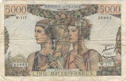 5000 Francs TERRE ET MER FRANCE  1953 F.48.08 B