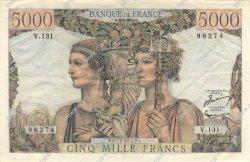 5000 Francs TERRE ET MER FRANCE  1953 F.48.08 pr.SUP