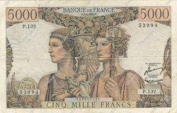 5000 Francs TERRE ET MER FRANCE  1953 F.48.08 TB+