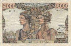 5000 Francs TERRE ET MER FRANCE  1953 F.48.10 TB+