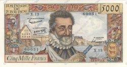 5000 Francs HENRI IV FRANCE  1957 F.49.02 TTB+