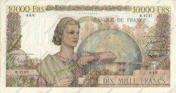 10000 Francs GÉNIE FRANÇAIS FRANCE  1953 F.50.65 pr.TTB