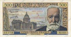 5 NF sur 500 Francs Victor HUGO FRANCE  1958 F.52.01 pr.TTB