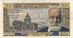 5 NF sur 500 Francs Victor HUGO FRANCE  1959 F.52.02 SPL+