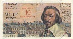 10 NF sur 1000 Francs RICHELIEU FRANCE  1957 F.53.01 SUP+ à SPL