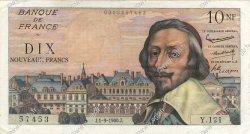 10 Nouveaux Francs RICHELIEU FRANCE  1960 F.57.10 SUP