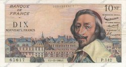 10 Nouveaux Francs RICHELIEU FRANCE  1960 F.57.12 TTB+