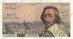 10 Nouveaux Francs RICHELIEU FRANCE  1961 F.57.16 pr.SPL