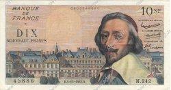 10 Nouveaux Francs RICHELIEU FRANCE  1962 F.57.21 pr.SUP