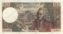 10 Francs VOLTAIRE FRANCE  1964 F.62.07 SUP