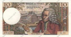 10 Francs VOLTAIRE FRANCE  1964 F.62.08 SUP+