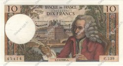 10 Francs VOLTAIRE FRANCE  1965 F.62.14 SUP