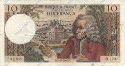 10 Francs VOLTAIRE FRANCE  1965 F.62.16 TB