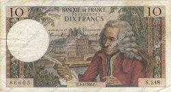 10 Francs VOLTAIRE FRANCE  1966 F.62.21 TB