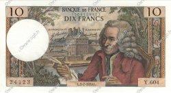 10 Francs VOLTAIRE FRANCE  1970 F.62.45 pr.SPL