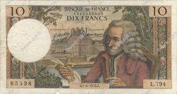 10 Francs VOLTAIRE FRANCE  1972 F.62.57 pr.TB