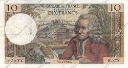 10 Francs VOLTAIRE FRANCE  1973 F.62.61 TTB