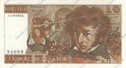 10 Francs BERLIOZ FRANCE  1974 F.63.06 SUP+