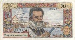 50 Nouveaux Francs HENRI IV FRANCE  1959 F.58.03 TTB+