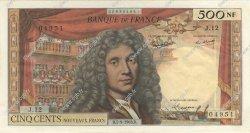 500 Nouveaux Francs MOLIÈRE FRANCE  1963 F.60.05 SUP+