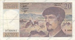 20 Francs DEBUSSY FRANCE  1981 F.66.02 TTB