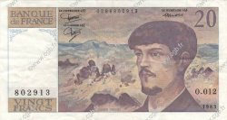 20 Francs DEBUSSY FRANCE  1983 F.66.04 SUP