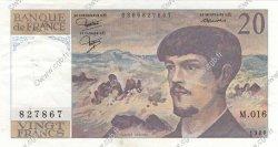 20 Francs DEBUSSY FRANCE  1986 F.66.07 SUP